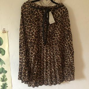 Pleated leopard ZARA skirt